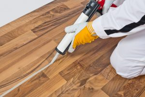 Prefinished wood floors use industrial chemical sealers