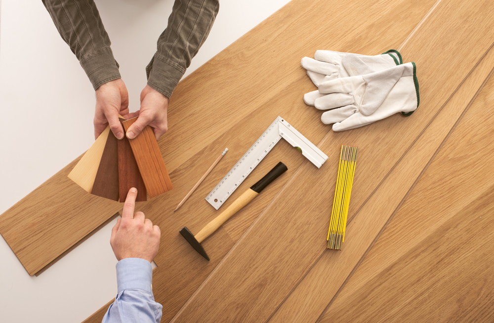 Ask for sample swatches of prefinished hardwood flooring